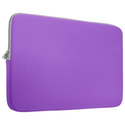 Neoprene Zipper Laptop Sleeve Bag Cover For All 15-Inch Laptop - Purple