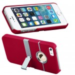 Aluminum Chrome Hard Stand Case For Apple® iPhone® 5 5S Red