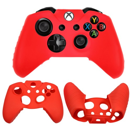 Soft silicone gel case for Microsoft®  Xbox® One controller Red