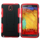 Armor Belt Clip Holster Hard Case For Samsung Galaxy Note 3 Black Red