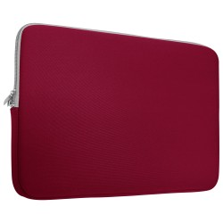 Neoprene Zipper Laptop Sleeve Bag Cover For All 13-Inch Laptop - Wine Red