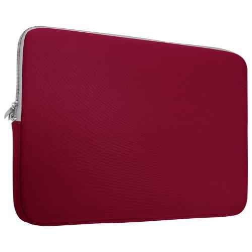 Neoprene Zipper Laptop Sleeve Bag Cover For All 13-Inch Laptop - Wine Red