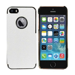Luxury Hard Leather Case For Apple® IPhone® 5 5s White