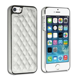 Luxury leather Chrome case for apple® iphone® 5 5s White