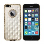 Luxury Hard Rhinestone case for Apple® iPhone® 5 5s Champagne Gold