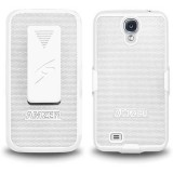 Amzer White Holster Hard Case Cover For Samsung Galaxy S©4
