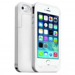2500mAh Power Bank Battery Charger Case for iPhone 5S White