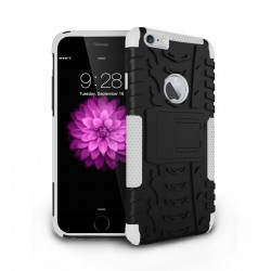 hybrid rugged two layer case for iPhone® 6 White