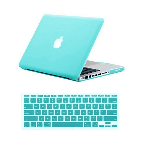 for macbook pro® 13 inch rubberized case cover - ocean green