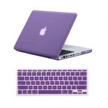 for macbook pro® 13 inch rubberized case cover - purple