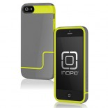 incipio gray yellow hard case cover for apple® iphone® 5