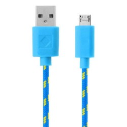 6 FT Micro USB Braided Cable Sky Blue
