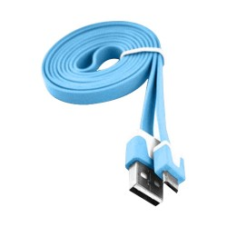 6 ft Flat Micro USB Data Cable for Samsung Galaxy S©5 Blue