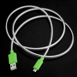 LED light Micro usb cable Samsung Galaxy S®2 S®3 S®4 Green