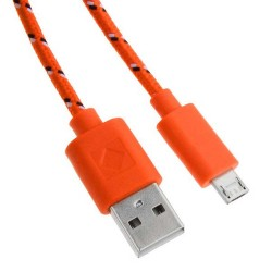 6 FT Micro USB Braided Cable Orange