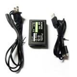 black wall power ac adapter for Sony® ps vita with usb data cable