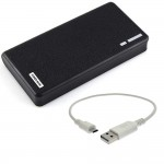 20000mAh External Power Bank Backup 2 USB Battery Charger Black