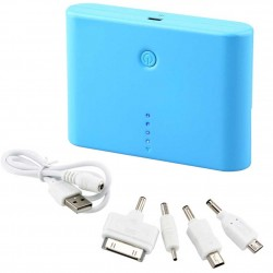 Universal 12000mAh Battery Power Bank USB Portable Charger For Cell Phone Blue