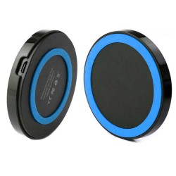 Qi Wireless Power Pad Charger for Samsung Galaxy S©5 Black Blue