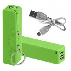 2600mAh Portable USB Power Bank Charger for iPhone 5 5S 5C Green