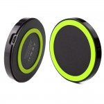 Qi Wireless Power Pad Charger for Samsung Galaxy S©5 Black Green