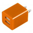 Dual USB 2 Port Wall Charger AC Adapter for iPhone® 5 5S Orange