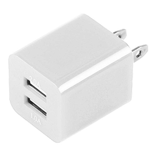 Dual USB 2 Port Wall Charger AC Adapter for iPhone® 5 5S White