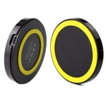 Qi Wireless Power Pad Charger for Samsung Galaxy S©5 Black Yellow