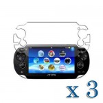 pack of 3 clear screen protector for Sony® ps vita