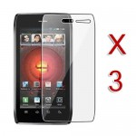 pack of 3 anti glare lcd screen protector for MOTOROLA® droid 4