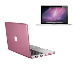 Crystal Hard Case for Macbook Pro® 13 with Screen Protector Pink