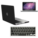 Rubberized Hard Case for Macbook Pro® 13 with Screen Protector Black