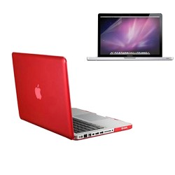 Crystal Hard Case for Macbook Pro® 13 with Screen Protector Red