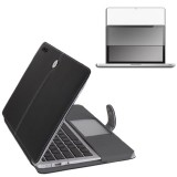 Leather Folio Case for MacBook Pro® 13 with Screen Protector Black