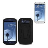 black hard case cover for SAMSUNG Galaxy s©3 with screen protector