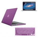 Rubberized Hard Case for Macbook Pro® 15 Retina with Screen Protector Purple