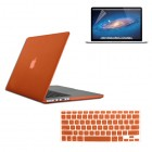 Rubberized Hard Case for Macbook Pro® 15 Retina with Screen Protector Orange
