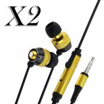 pack of 2 earphone w/ mic for Apple iPhone® 5 5s smartphones yellow black