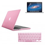Rubberized Hard Case for MacBook Pro® 15 Retina with Screen Protector Baby Pink