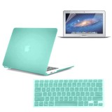Rubberized Hard Case for Macbook Air® 11 with Screen Protector Ocean Green