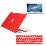 Rubberized Hard Case for Macbook Air® 11 with Screen Protector Red