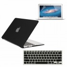 Rubberized Hard Case for Macbook Air® 11 with Screen Protector Black