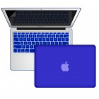 Rubberized case cover for MacBook air® 11 with screen protector royal blue