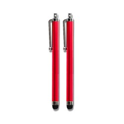 pack of 2 universal stylus for apple® iphone® 4 4s 5 5s red