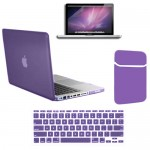 Rubberized Hard Case With Screen Protector For Macbook Pro® 13 Purple