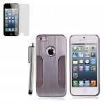 Hard Case With Screen Protector For Apple® iPhone® 5 5S Silver