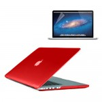 Crystal Hard Case for MacBook Pro® 13 Retina with Screen Protector Red