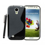 Black TPU S Line Case For Samsung Galaxy S© 4
