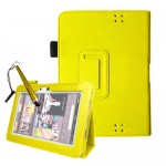 Flip Leather Case Cover For Amazon Kindle Fire HD 7 Lime Yellow