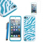 Hybrid Case stylus screen guard For Apple® iPod touch® 5 5g blue white